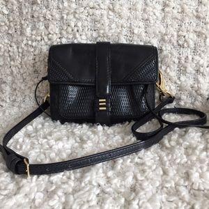 She + Lo Black Leather Crossbody Bag